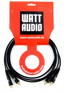 Watt Audio Kabel 2x RCA stereo 1m Profesjonalny kabel audio