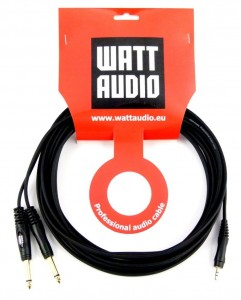 Watt Audio Kabel mini Jack stereo 2x Jack mono 6m Profesjonalny kabel audio